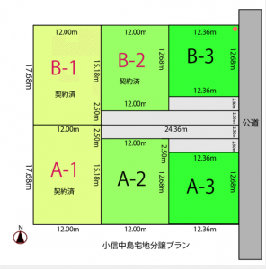 小信中島土地分譲A-3